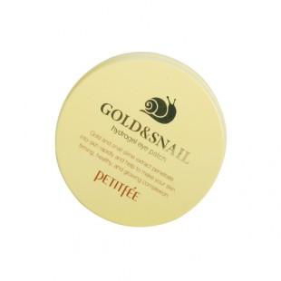 Патчи для глаз с золотом и улиткой Petitfee Gold & Snail Hydrogel Eye Patch