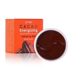 Гидрогелевые тонизирующие патчи под глаза с экстрактом какао PETITFEE Cacao Energizing Hydrogel Eye Patch