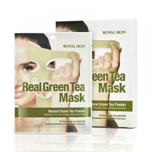 Маска для лица с зеленым чаем ROYAL SKIN REAL GREEN TEA MASK 5 шт